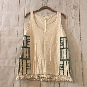 MADEWELL Womens Small Embroidered Tank Top